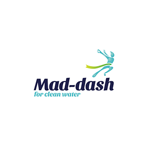 Logo of the Mad dash fun run to raise money for clean water